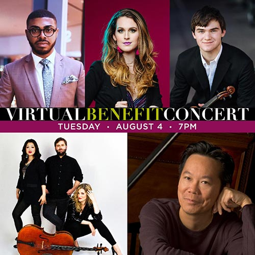 Virtual Benefit Concert. Tuesday August 4 7pm