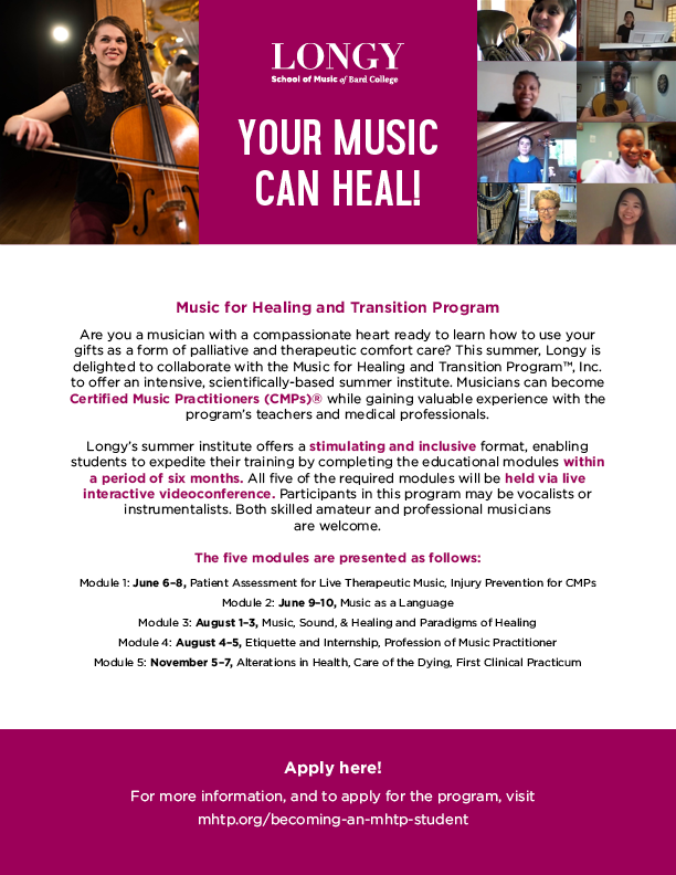 Your Music Can Heal! Click for Summer 2021 PDF.