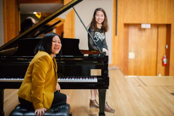 Piano and voice students collaborate
